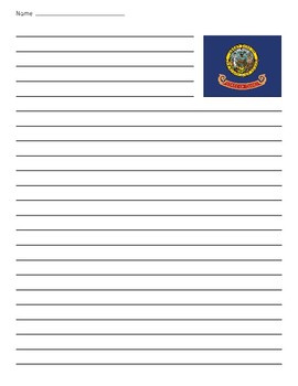 Idaho State Flag Lined Paper