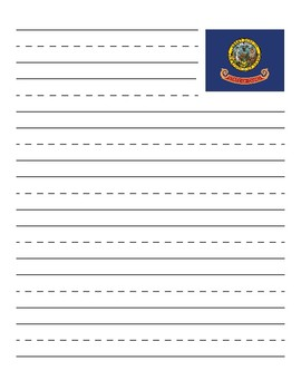 Idaho State Flag Primary Lined Paper