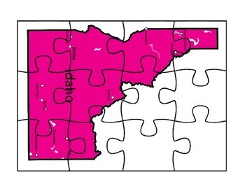 Idaho State Map Puzzle Fun