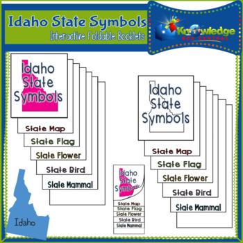 Idaho State Symbols Interactive Foldable Booklets