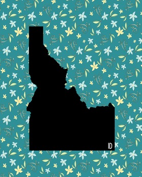 Idaho Vintage State Map or Poster Class Decor, Classroom Decoration