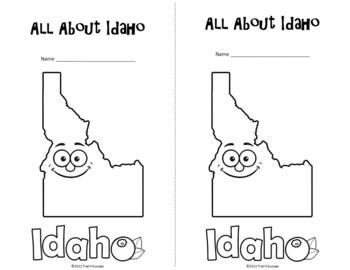 Idaho Webquest Common Core Research Activity Mini Book