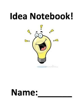 Idea Notebook - Writers workshop FREEBIE