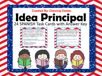 Idea Principal - Main Idea SPANISH Task Cards