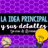 Idea Principal - Main Idea Task Cards in Spanish