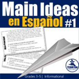 Idea Principal - Main Idea Task Cards in Spanish (Set 1)