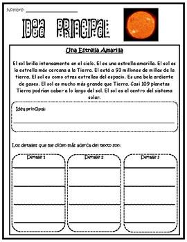 Idea Principal- Sol, Astronomia y Espacio Exterior
