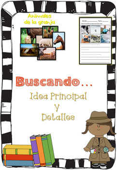 Idea Principal y Detalles / Main Idea and Supporting Details GO + picture cards