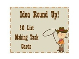 Idea Round Up! - 80 Make a List Task Cards