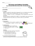 Idea Splash Checklist-Personal Narrative Writing