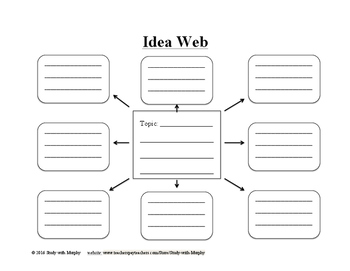 Idea Web/Topic Web with Lines - Writing, Brainstorming