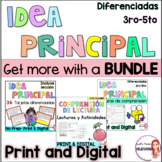 Idea principal/Main idea in Spanish/Reading comprehension