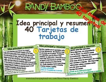 Idea principal Resumir Tarjetas de tareas - ¡Set de 40! by Randy Bamboo