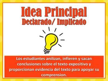 Idea principal (implicado/declarado)