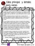 Spanish Main Idea - Idea principal y detalles K-2 - Juego