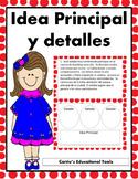 Idea principal - Main Idea and details Task Cards - Spanish