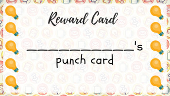 Idea-themed printable punch cards