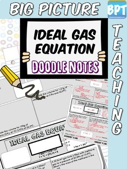Ideal Gas Law Equation Activity Worksheet Doodle Notes