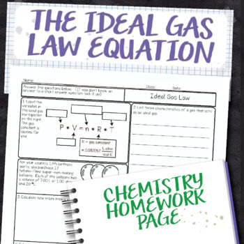 gas laws boyle s law homework by amy brown science tpt the combined ideal worksheet gas best. Black Bedroom Furniture Sets. Home Design Ideas