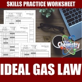 Ideal Gas Law Worksheets | Print | Digital | Self-Grading
