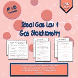 Ideal Gas Law and Stoichiometry Notes and Worksheets