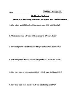 Gas law packet answers further ANSWER KEY for More Gas Law Practice Problems  Ideal Gas Law together with  together with Ideal Gas Law and Stoichiometry   YouTube besides Ideal Gas Law Worksheet PV   nRT likewise Kids Ideal Gas Law Worksheet Answers Quiz Deviation From Free furthermore Ideal Gas Law Worksheet  Chem B Proficiency  6   YouTube moreover  as well  together with Chemistry  bined Gas Law as well  together with Ideal Gas Law practice worksheet by MJ   Teachers Pay Teachers furthermore Ideal Gas Law Worksheet PV   nRT as well Chemistry Gas Laws Worksheet Answers   WRITING WORKSHEET together with Ideal Gas Law Worksheet Molarity Practice Worksheets Answers in addition Mixed gas laws worksheet solutions. on the ideal gas law worksheet