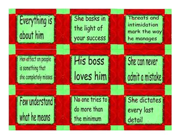 Ideal vs Bad Boss Cards