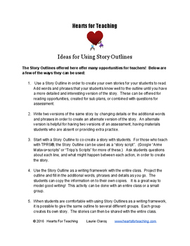 Ideas For Using Story Outlines