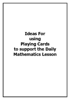 Maths Games and Lesson Ideas using playing cards