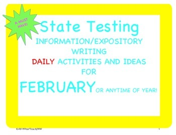 February Ideas and Activities for Explanatory Writing Practice