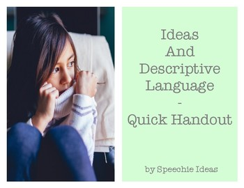 Ideas and Descriptive Language
