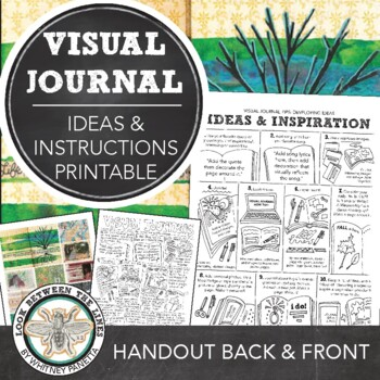 Ideas and Instructions for Visual Journals, Art Journals, or Sketchbooks: HS, MS
