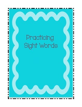 Ideas for Practicing Sight Words