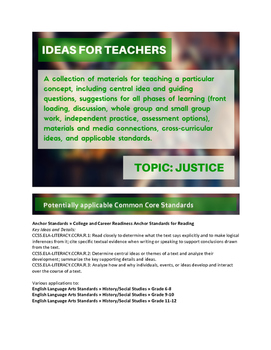 Ideas for Teachers: Justice
