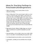 Ideas for Teaching Feelings