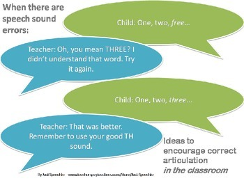 Ideas for teachers: Encouraging speech and language in the classroom