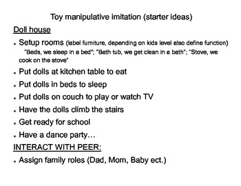 Ideas for teaching toy play