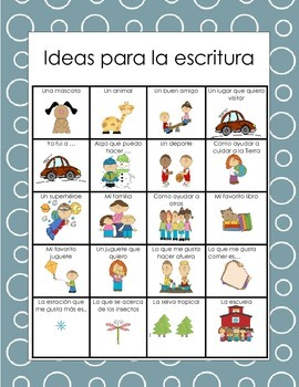 Ideas para la escritura/Writing Ideas