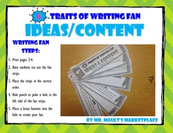 [Ideas/Content] 6 Traits of Writing Rubric Fan- Reference Tool for Full Year Use
