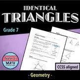 Identical Triangles Worksheet