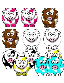 Identical matching cows file folder
