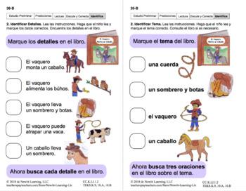 Identificar Tema y Detalles 1: Lección 3, Libro 18