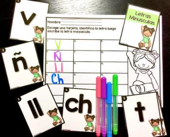 Identificar y Parear Letras Mayúsculas y Letras Minúsculas
