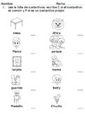 Identificar y clasificar sustantivos propios y comunes