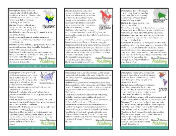 Identification Cards (Flash Cards) for American Animals