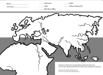 Identification Map - History - River Civilizations Plus