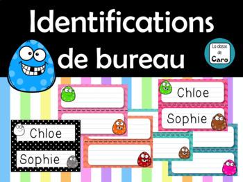 Identifications de bureau / Cartes de vocabulaire - French Name Plates