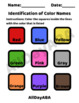 Identification of Color Names - Coloring Worksheet - by AllDayABA