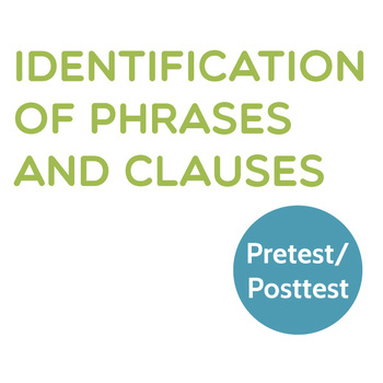 Grammar: Identification of Phrases and Clauses Pretest/Posttest