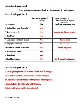 Identifier une phrase